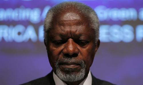 Kofi Annan tại hội nghị ở London tháng 5/2014. Ảnh: Reuters.
