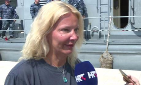 Kay Longstaff, người phụ nữ Anh sống sót sau khi ngã khỏi tàu du lịch. Ảnh: BBC.
