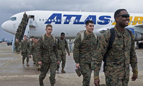 Thủy quân lục chiến Mỹ tại căn cứ không quân Kunsan, Hàn Quốc hồi năm 2014. Ảnh: Không quân Mỹ.