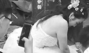 Cô dâu Trung Quốc bỏ mặc chú rể chạy đi cứu người bị nạn