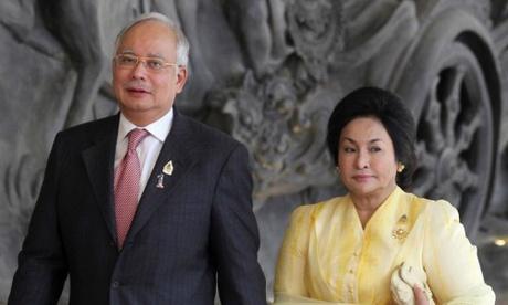 Vợ chồng cựu thủ tướng Malaysia Najib Razak. Ảnh: Reuters.