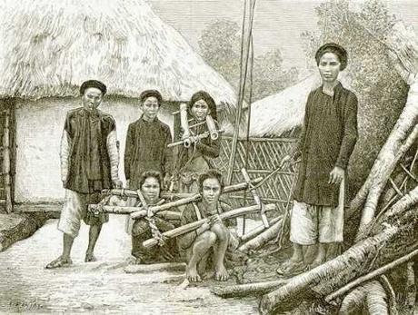 Các phạm nhân dưới triều Nguyễn. Ảnh tư liệu