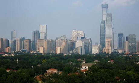 Các tòa nhà chọc trời tại khu trung tâm ở Bắc Kinh hôm 28/7. Ảnh: Reuters.