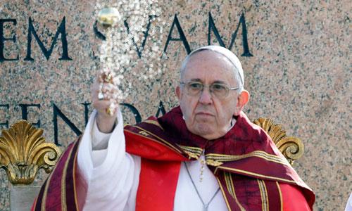 Giáo hoàng Francis trong một buổi lễ hồi tháng 3. Ảnh: AP.