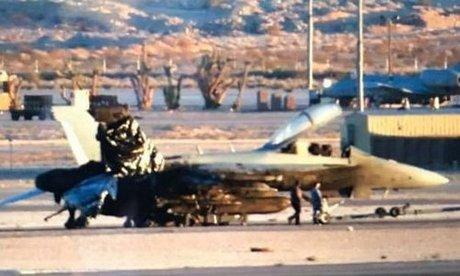 Chiếc EA-18G của Australia bị nổ động cơ hôm 27/1/2018. Ảnh: Drive.