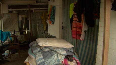 Bên trong ngôi nhà mà Tang và Huynh sống chung trước vụ giết người. Ảnh: 9News