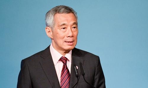Thủ tướng Lý Hiển Long tại một hội nghị ở nước này hồi tháng 4. Ảnh: AFP.