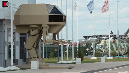 Mẫu robot chiến đấu mới của Kalashnikov tại diễn đàn Army-2018. Ảnh: RT.