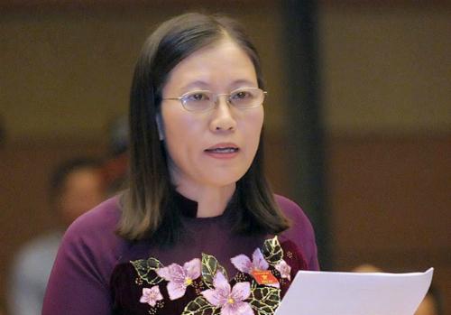 Bà Lê Thị Nga, Chủ nhiệm Ủy ban Tư pháp. Ảnh: QH
