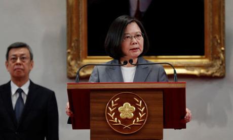 Bà Thái Anh Văn phát biểu trước truyền thông tại Đài Bắc sau khi El Salvador cắt đứt quan hệ ngoại giao với Đài Loan hôm 21/8. Ảnh: Reuters.