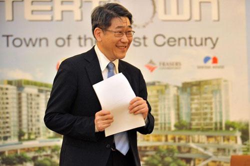 Philip Ng tham dự một buổi tiệc kỷ niệm 15 năm thành lập hiệp hội doanh nghiệp Singapore năm 2017. Ảnh: Straits Times.