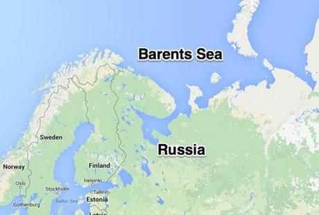Biển Barents nằm phía bắc Nga và Na Uy. Đồ họa: Google Earth.
