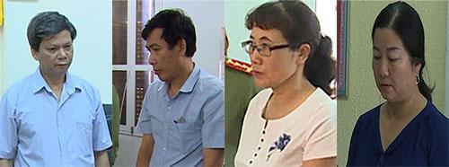 Ông Huynh, Thủy, bà Nga, Sọn (từ trái sang phải). Ảnh: Sơn Dương
