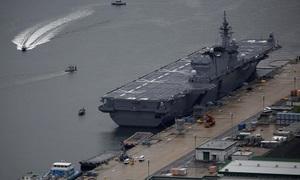 Tàu sân bay trực thăng lớn nhất của Nhật sắp diễn tập tại Biển Đông
