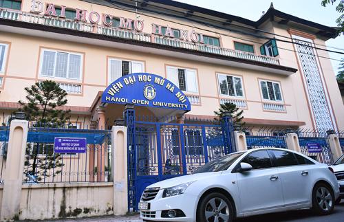 Viện Đại học Mở Hà Nội nằm trên con phố Nguyễn Hiền,quận Hai Bà Trưng. Ảnh: Giang Huy.
