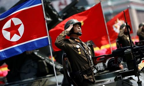 Binh sĩ Triều Tiên trong lễ duyệt binh hồi tháng 4/2017. Ảnh: KCNA.