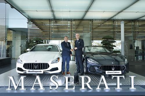 Maserati chính thức ra mắt showroom sang trọng thuộc khách sạn năm sao JW Marriott Hà Nội.