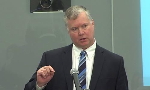 Phó chủ tịch Quan hệ quốc tế của tập đoàn Ford Stephen Biegun. Ảnh: Aspen.