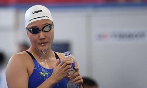 Vận động viên bơi lội Kim Hye-jin của Hàn Quốc. Ảnh: AFP.
