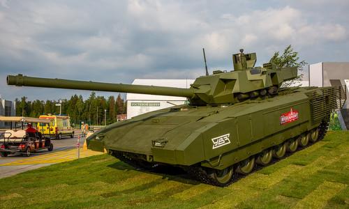 Siêu tăng T-14 Armata tại triển lãm Army-2018 khai mạc hôm 21/8 tại Moskva. Ảnh: Said Aminov.