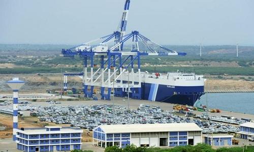 Một góc cảng Hambantota của Sri Lanka. Ảnh: Livemint.
