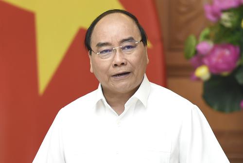 Thủ tướng Nguyễn Xuân Phúc kết luận cuộc họp. Ảnh: VGP/Qhang Hiếu