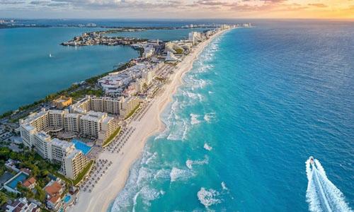 Thị trấn nghỉ mát Cancun ở bang Quintana Roo, đông nam Mexico. Ảnh: iStock.