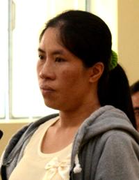 Cô vợ thú nhận hành vi giết chồng tại phiên tòa. Ảnh: Phúc Hưng.