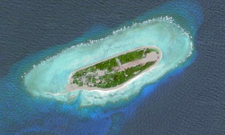 Đào Ba Bình thuộc quần đảo Trường Sa của Việt Nam. Ảnh: Google Maps.