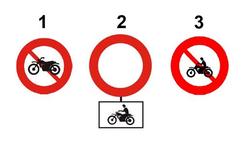 Phân biệt ba biển cấm xe máy tại Việt Nam?