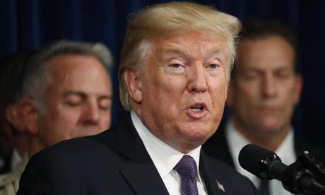 Tổng thống Mỹ Donald Trump phát biểu tại Las Vegas, bang Nevada vào tháng 10/2017. Ảnh: Reuters.