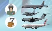 Hành trình ghé thăm Việt Nam của dàn máy bay quân sự Pháp