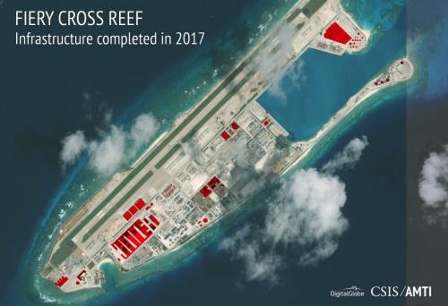 Trung Quốc đang gia tăng năng lực quân sự trên Biển Đông. Ảnh: CSIS.