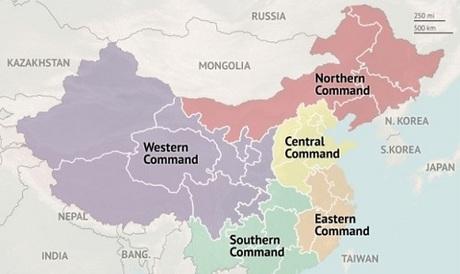 Chiến lược khu miền Bắc của Trung Quố nằm gần biên giới Triều Tiên. Đồ họa: USI.
