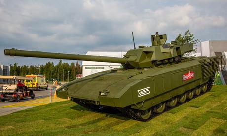 Siêu tăng T-14 Armata trưng bày tại Army-2018. Ảnh: Said Aminov.