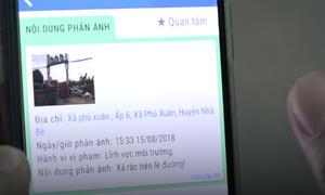 Người dân phản ánh vi phạm qua smartphone, chính quyền xử lý trong 4 tiếng