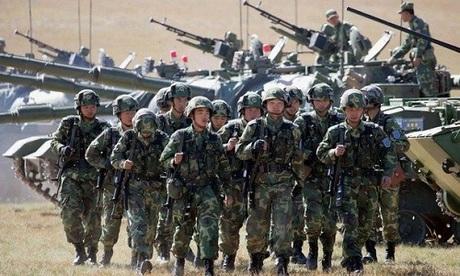 Binh sĩ Trung Quốc trong một đợt diễn tập hồi năm 2016. Ảnh: Defense Talk.