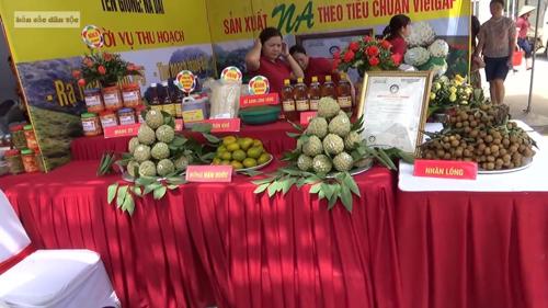 Na Chi Lăng được bày bán tại Hội chợ na năm 2018. Ảnh: Tuấn Ngọc