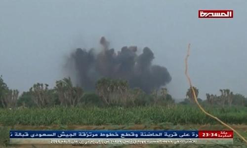 Cuộc không kích của liên quân Arab Saudi hôm 23/8. Ảnh: CNN.