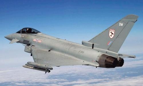 Chiến đấu cơ Typhoon của Không quân Hoàng gia Anh. Ảnh: RAF.