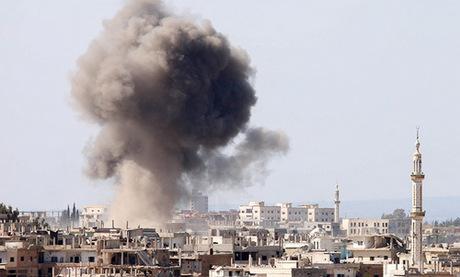Vị trí phiến quân bị lực lượng chính phủ Syria không kích hồi đầu năm nay. Ảnh: AFP.