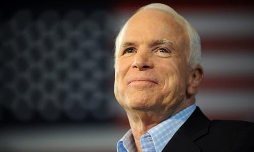 John McCain tại Michigan tháng 9/2008. Ảnh: AFP.