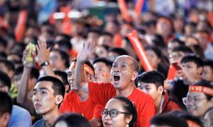 Cổ động viên trong nước tiếp lửa cho tuyển Olympic Việt Nam