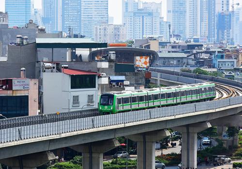 Tuyến đường sắt Cát Linh - Hà Đông đã trong giai đoạn chạy thử từng hạng mục. Ảnh: Giang Huy