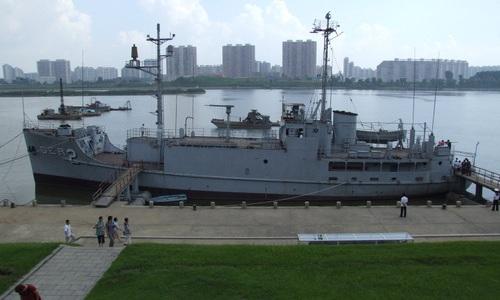 USS Pueblo được trưng bày tại Triều Tiên. Ảnh: Wikipedia.