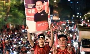 Các kiểu ăn mừng sau chiến thắng của Olympic Việt Nam