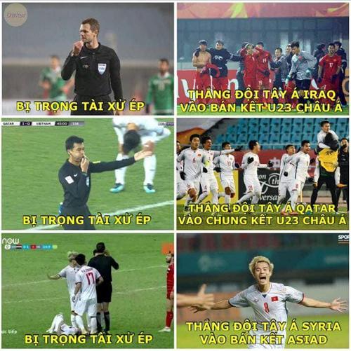 Giờ các đội bóng Tây Á gặp Việt Nam là được về nước sớm.