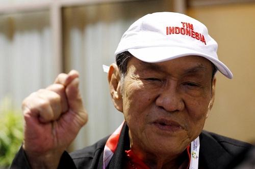 Tỷ phú Indonesia Hartono trả lời phỏng vấn về trận đấu Bridge trong khuôn khổ Asiad 2018 ở Jakarta hôm 21/8. Ảnh: Reuters.