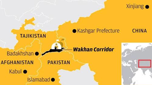 Hành lang Wakhan nối giữa Trung Quốc và Afghanistan. Đồ họa: SCMP.