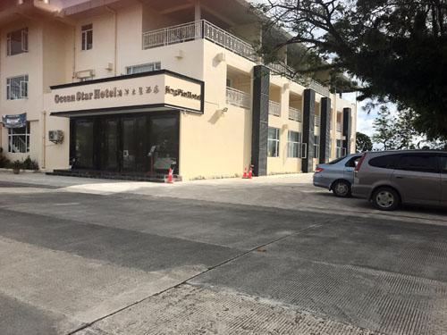 Khách sạn Ocena Star ở Koror, Palau không một bóng khách du lịch hôm 6/8. Ảnh: Reuters.